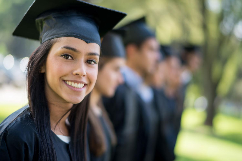 female at graduation